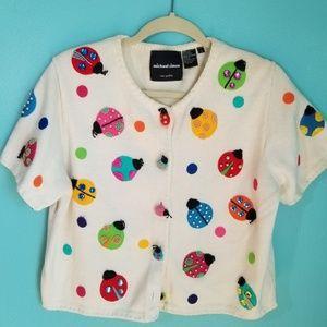Michael Simon Vintage Ladybug Sweater